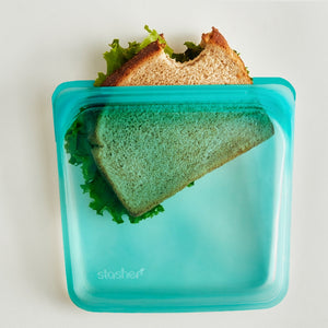 Stasher, Sandwich Bag, Aqua