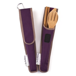 Utensil Set, Adult, Purple