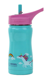 Water Bottle, EcoVessel 13oz, Unicorn
