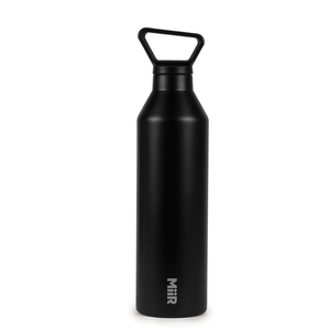 Water bottle, Narrow, Black, 23oz
