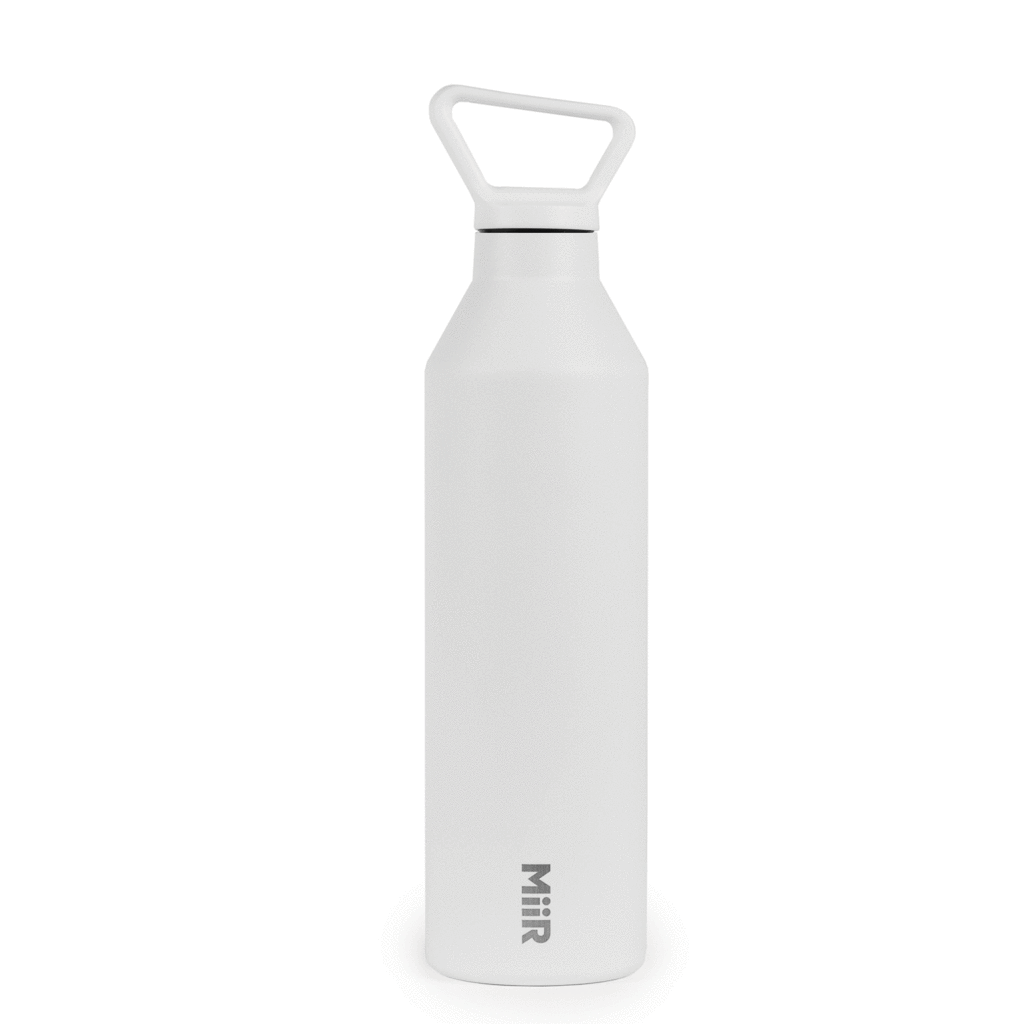 Water bottle, Narrow, White, 23oz