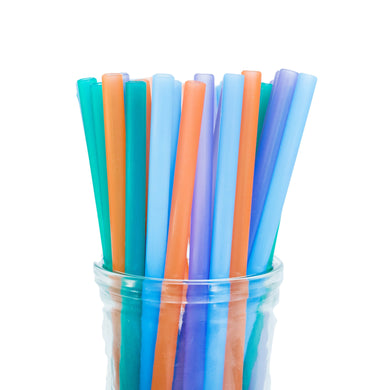 Straw, Silicone, Multicolour