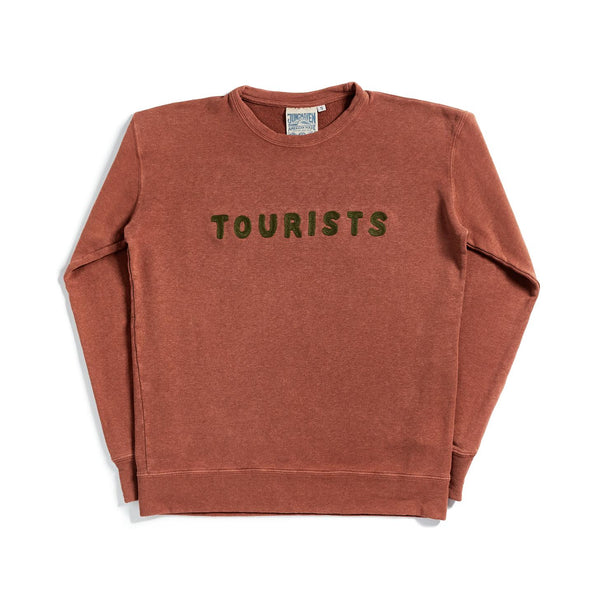 Tourists Chain Stitch Sweatshirt - TERRACOTTA