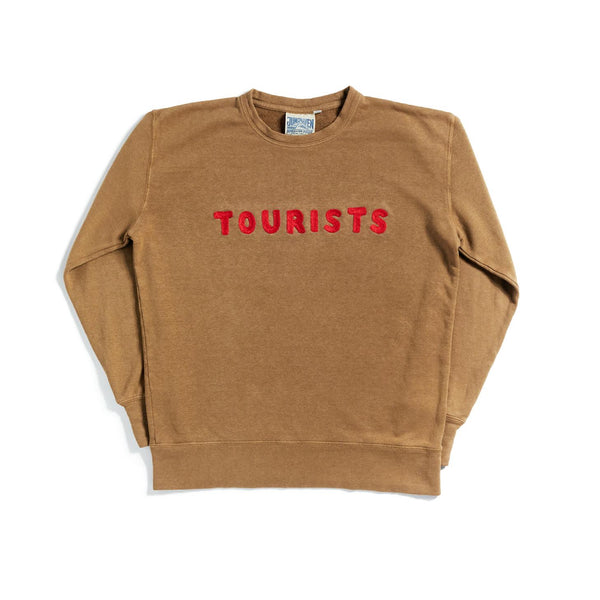Tourists Chain Stitch Sweatshirt - COYOTE
