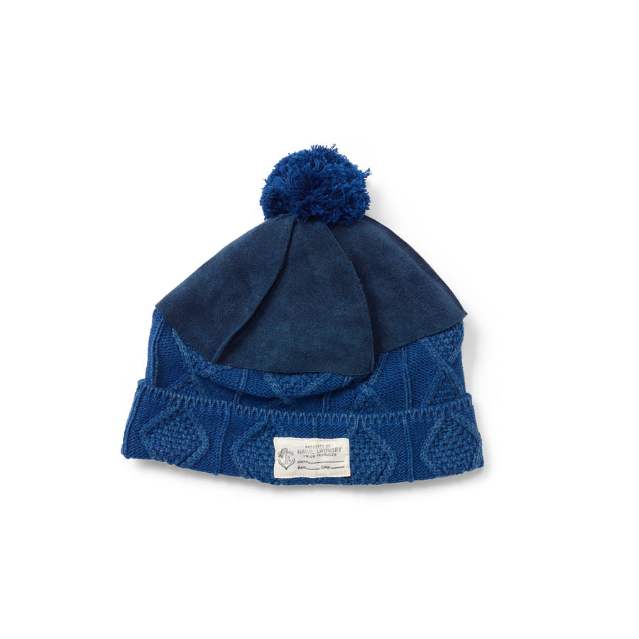 Kapital Cable Knit Leather Himalayan Hat