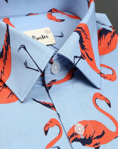 Printed cotton shirts for men