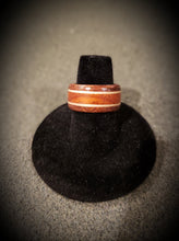 Load image into Gallery viewer, Lacewood and Padauk with Maple Accent Wooden Ring