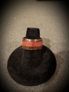 Exotic African Wenge and Padauk Wooden Ring