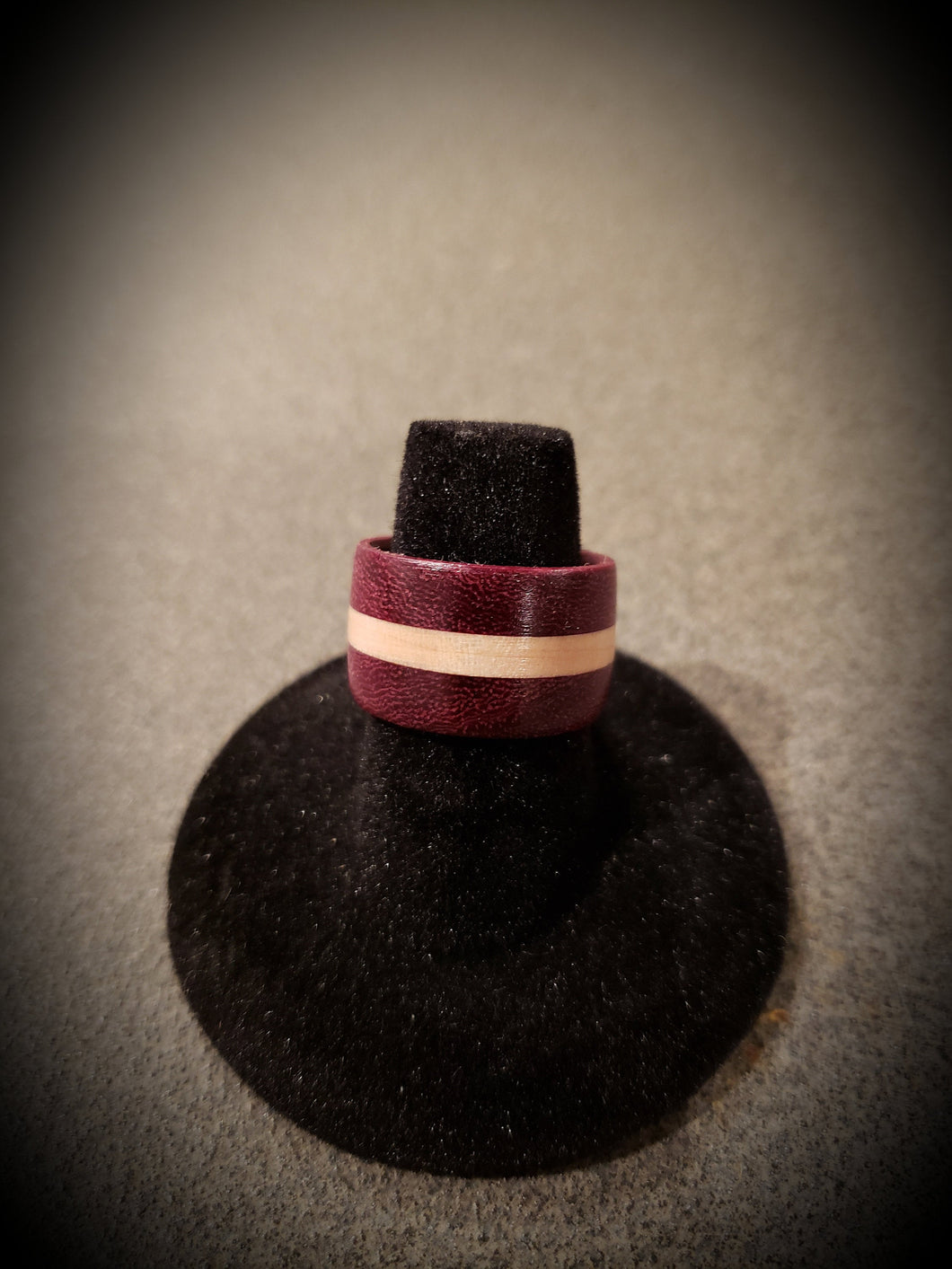 Beautiful Exotic Purpleheart with Curly Maple Wooden Ring