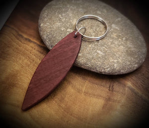 Stand Up Paddleboard or Surfboard Keychains, SUP Exotic African paduak, Red Heart, Walnut, Purpleheart or Wenge