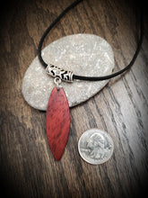 Load image into Gallery viewer, Stand Up Paddleboard Necklace, Exotic African Padauk, SUP Board Necklace Pendant! Surfboard