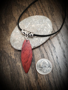 Stand Up Paddleboard Necklace, Exotic African Padauk, SUP Board Necklace Pendant! Surfboard