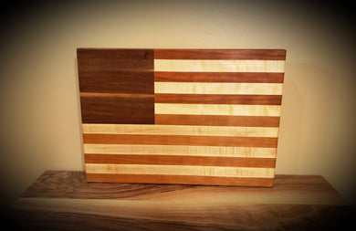 American Flag Cutting Board! Beautiful figured walnute, cherry and maple