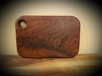 Gorgeous Figured Walnut Cutting Board, Cheese Board or serving platter