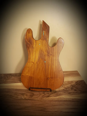 Ash Guitar Serving Board with Turquoise Accents