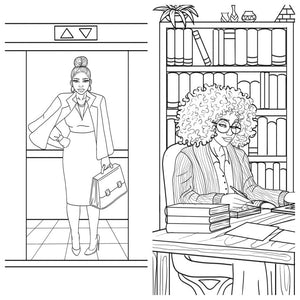 24 Shades of Business Coloring Book for Adults