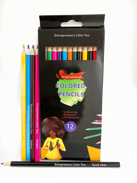 Black Girl Colored Pencils