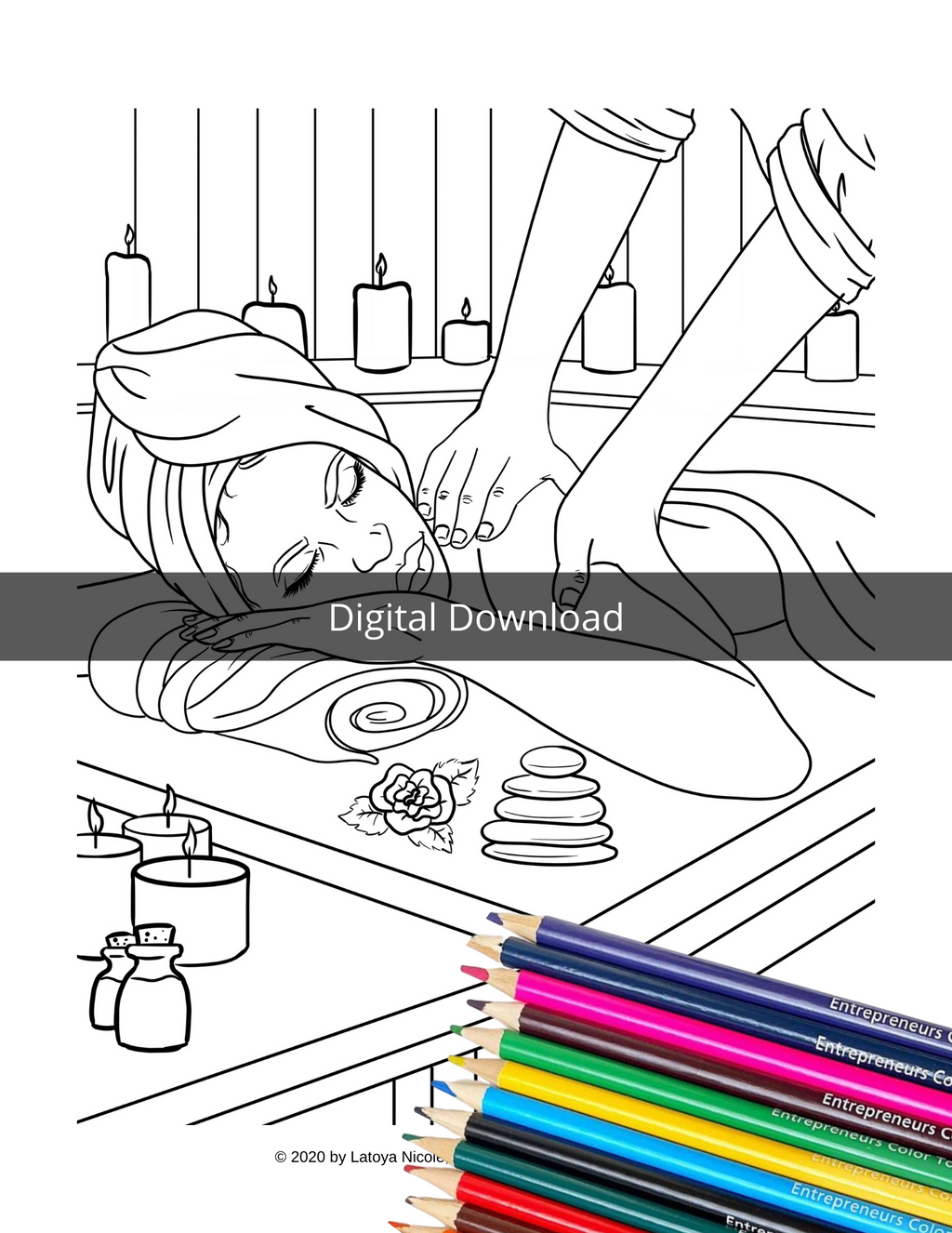 Black Girl Coloring Page