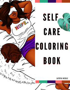 Black Girl Self Care Coloring Book