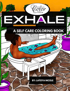 Black Women Self Care Coloring Book