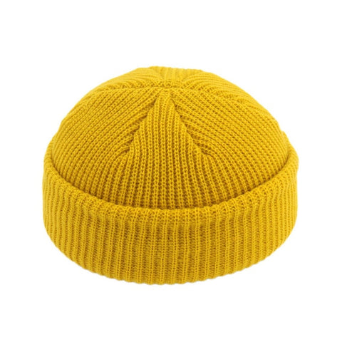 JNMZ004 Men's Yellow Wool Beanies With Winter Warmer Technology