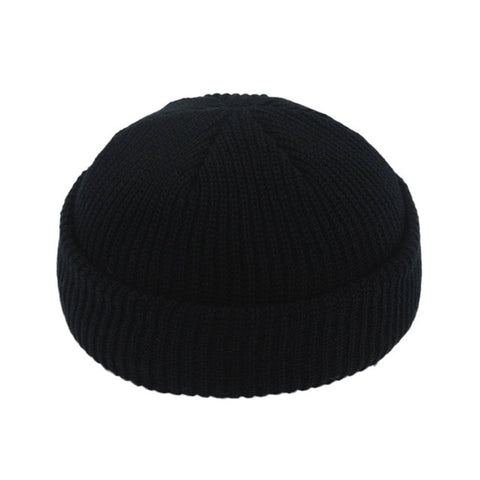 JNMZ004 Men's Black Wool Beanies With Winter Warmer Technology