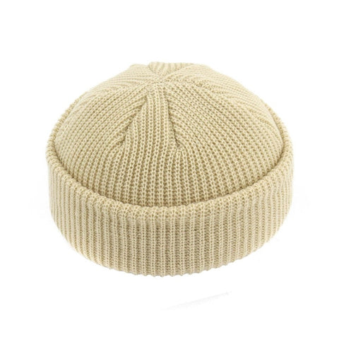 JNMZ004 Men's Beige Wool Beanies With Winter Warmer Technology