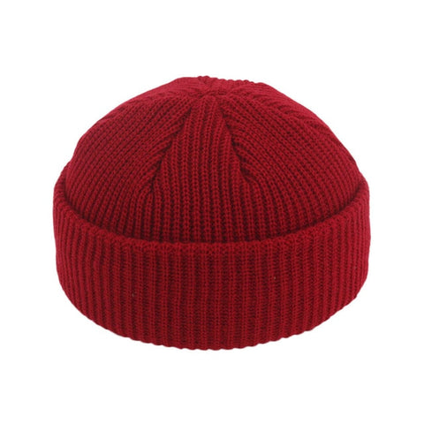 JNMZ004 Men's Red Wool Beanies With Winter Warmer Technology