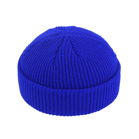 JNMZ004 Men's Blue Wool Beanies With Winter Warmer Technology