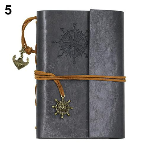 Portable Leather Grey Travel Journal