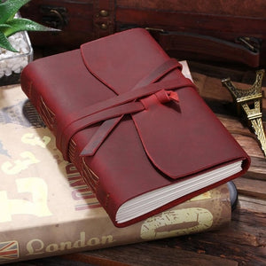 Open image in slideshow, ROBRASIM Quality Men's Wine Leather Journal Travel Notebook