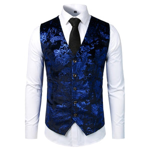 Open image in slideshow, PARKLEES V.5 Men's Blue Cotton Comfort Waistcoat