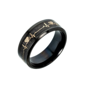 Open image in slideshow, Men's Black Luminous Stainless Steel Ring