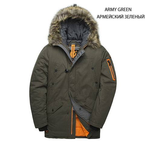 TIGER FORCE Men's Army Green Padded Winter Jacket