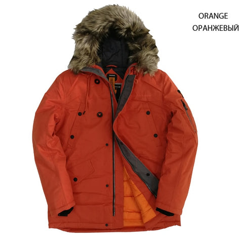 TIGER FORCE Men's Orange Padded Winter Jacket
