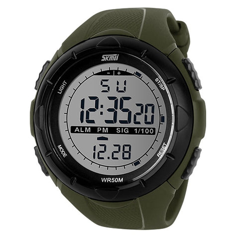 SKMEI Men's Green Shock Resistant Waterproof Digital Watch