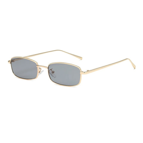 OEC Women's Gold-Grey Fashion Rectangle Sunglasses