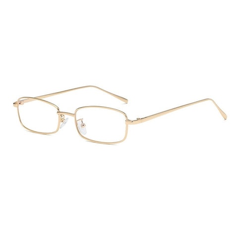 OEC Women's Gold-Clear Fashion Rectangle Glasses