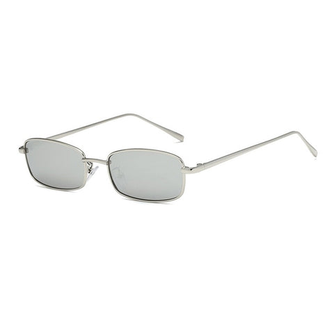 OEC Women's Gold Gray Fashion Rectangle Sunglasses