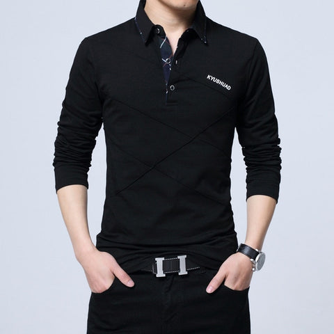 UNION ARMY Men's Black Polo Collared Casual Shirt