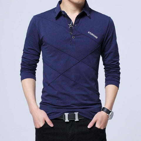 UNION ARMY Men's Blue Polo Collared Casual Shirt