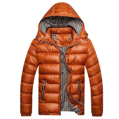 NARAJASABOR N-Type Men's Gold Thick Winter Coat