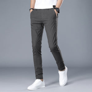CW 8807 Men's Dark Grey Cotton Trousers With Breathing Fabric Technology