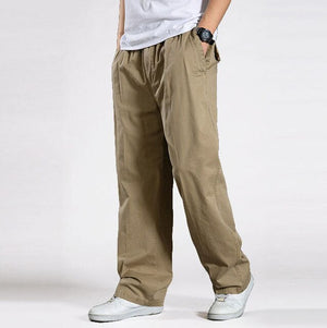 ACACIA 8977 Men's Khaki Harem Tactical Trousers With Broadcloth Waist