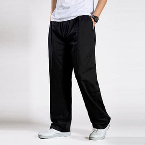 Open image in slideshow, ACACIA 8977 Men's Black Harem Tactical Trousers With Broadcloth Waist