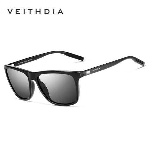 VEITHDIA TR90 Men's Black Polarized Sunglasses With Reinforced Frames