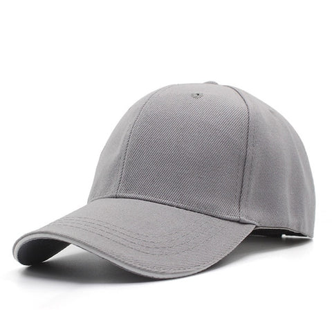 YOUBOME Men's Light Gray Snapback Cap With Adjustable Comfort Strap