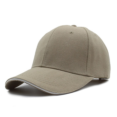 YOUBOME Men's Beige Snapback Cap With Adjustable Comfort Strap