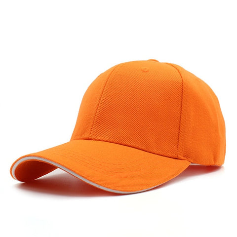 YOUBOME Men's Orange Snapback Cap With Adjustable Comfort Strap