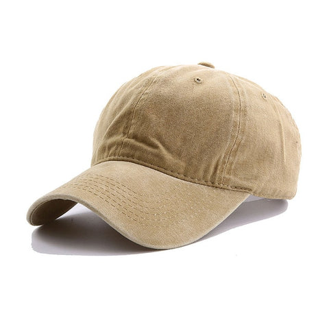 AYACO MKAP01 Solid Men's Khaki Cotton Cap With Vintage Texture